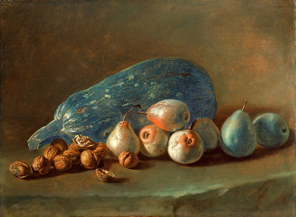Pitocchetto (Giacomo Ceruti) - Still Life with Pumpkin, Pears and Walnuts.  1750 - 60  (Pinacoteca di Brera)