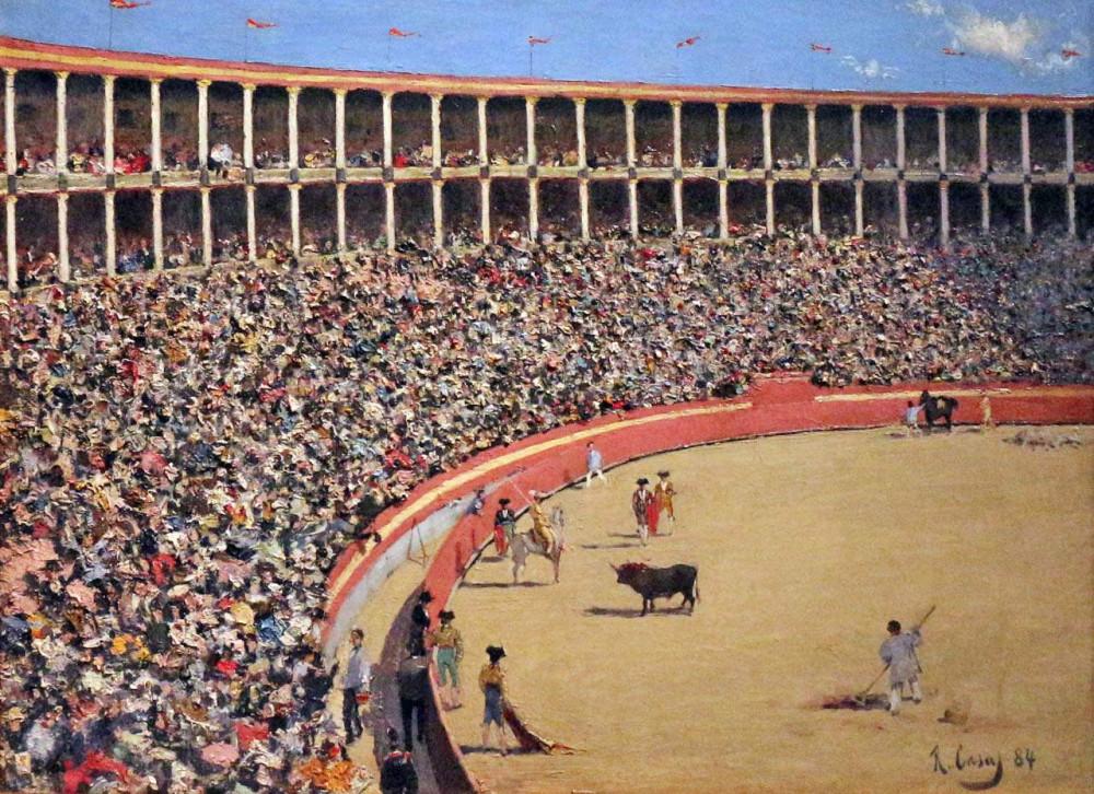 Рамон Казас.  Арена для боя быков. 1884