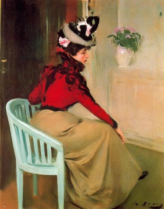 Рамон Казас - Парижанка, 1900