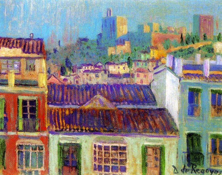 Дарио де Регойос и Вальдес - Вид на Альгамбру