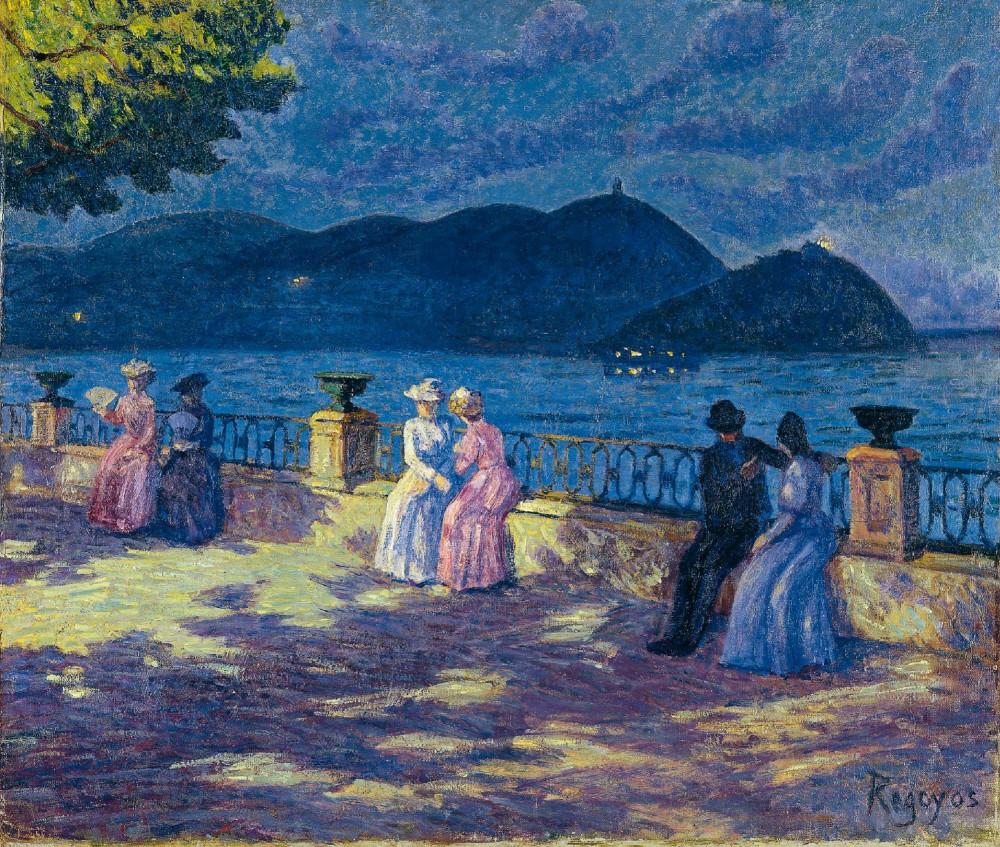 Дарио де Регойос и Вальдес  - Ла Конча, ночью. 1902