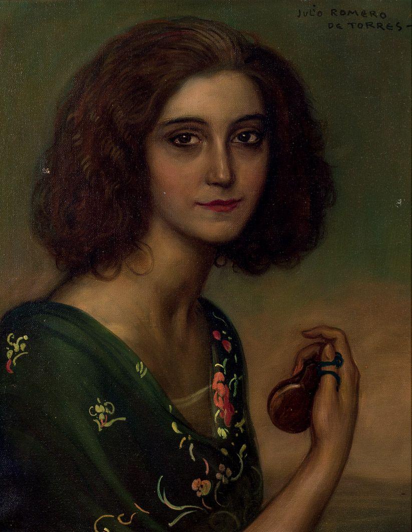 Автор: Хулио Ромеро де Торрес. Портрет актрисы Marichú Begoña