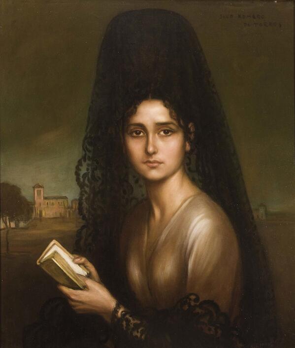 """Автор: Хулио Ромеро де Торрес. """"Портрет женщины с мантильей"""""""