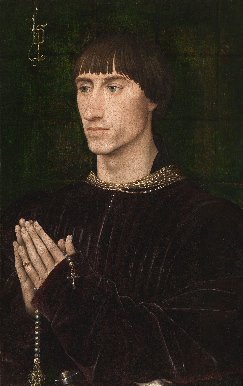 Рогир ван дер Вейден. Портрет Филиппа де Кроя. (Portrait of Philippe de Croy -  Rogier van der Weyden). 1460. Королевский музей изящных искусств (Антверпен)