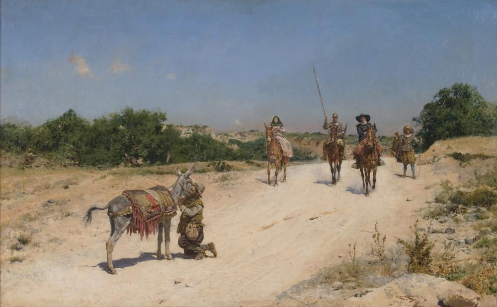 Encuentro de Sancho Panza con el Rucio, Museo del Prado