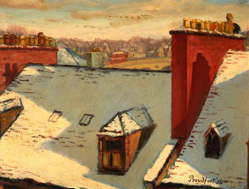 Perth Rooftops in Snow, 1936