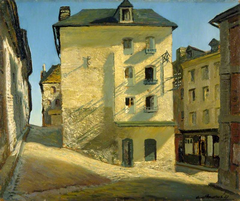 Sun on a House Dieppe (also known as A Corner of Dieppe), oil on canvas (1937)