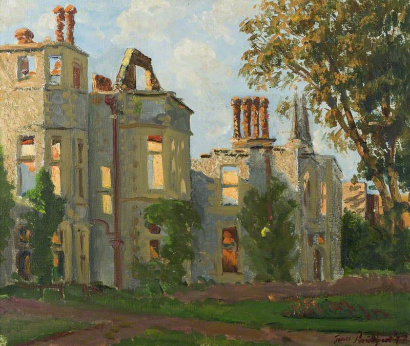 The Burnt Out House, oil on canvas (1947)