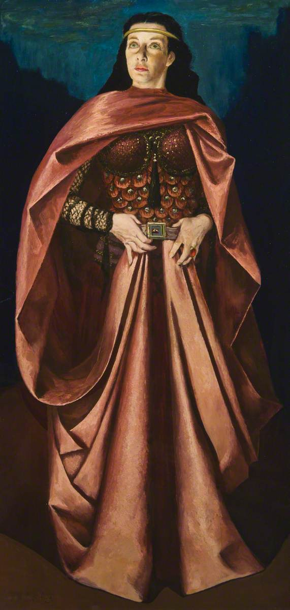 Ellen Pollock as Lady Macbeth, oil on hardboard (1953)