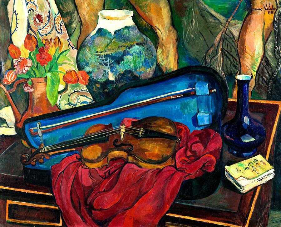 Suzanne Valadon, La Boîte à violon, 1923, huile sur toile, Paris, musée d'Art moderne de la ville de Paris. © Roger-Viollet