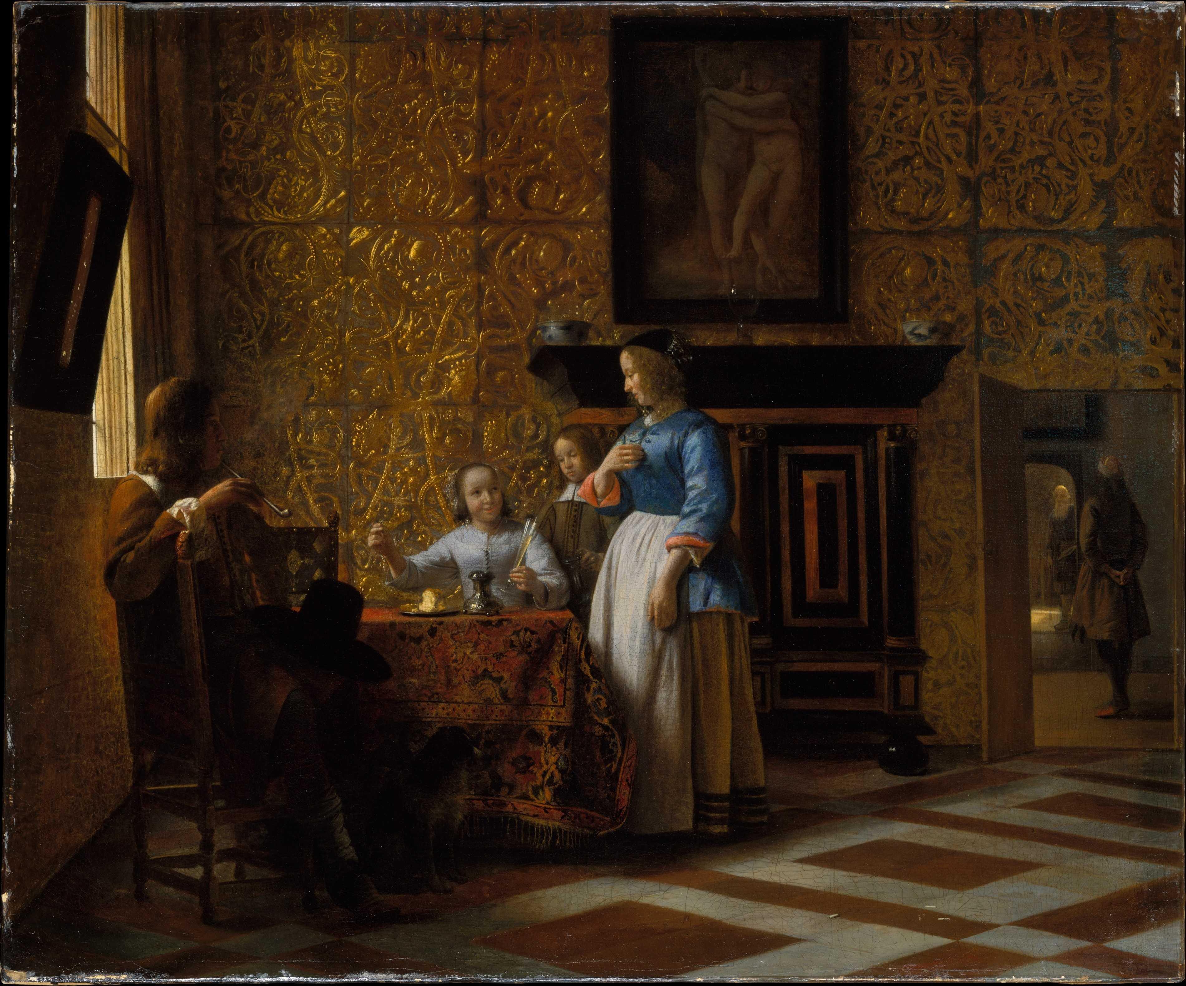 Питер де Хох - Свободное время в элегантной обстановке. Музей Метрополитен
