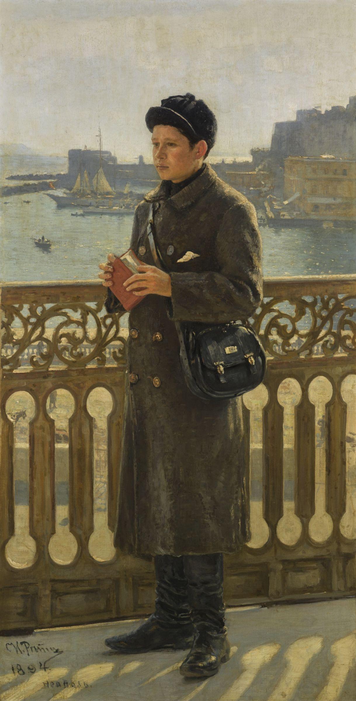 Ilya Efimovich Repin- PORTRAIT OF YURI REPIN BY THE BAY OF NAPLES. фото: Sotheby's
