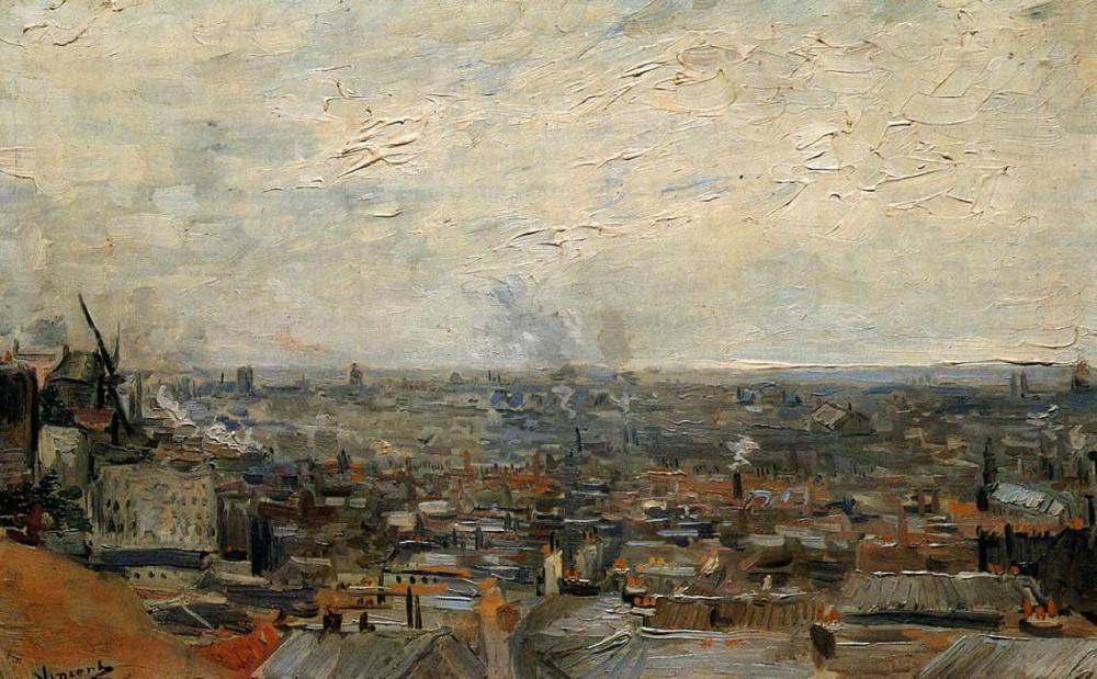 Винсент Ван Гог. «Вид на Париж с Монмартра», 1886. Холст, масло. 38.5 x 61.5 см. Художественный музей, Базель, Швейцария
