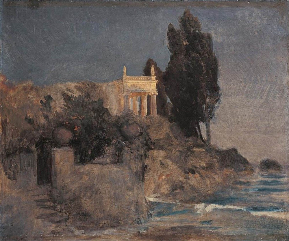 Arnold Böcklin - Villa by the Sea