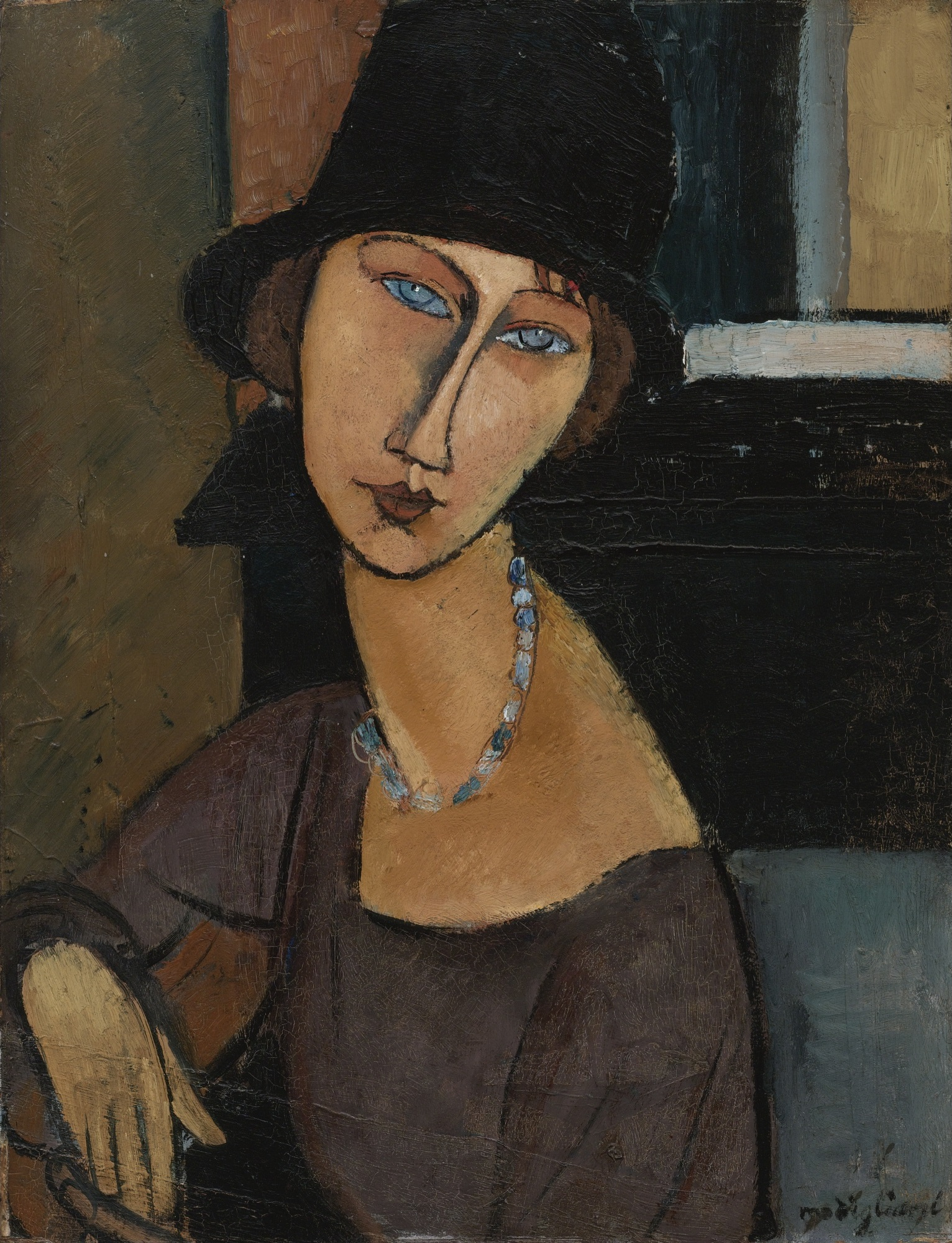Amedeo Modigliani (1884 - 1920) - Жанна Эбютерн ( в шляпе) / JEANNE HÉBUTERNE (AU CHAPEAU)