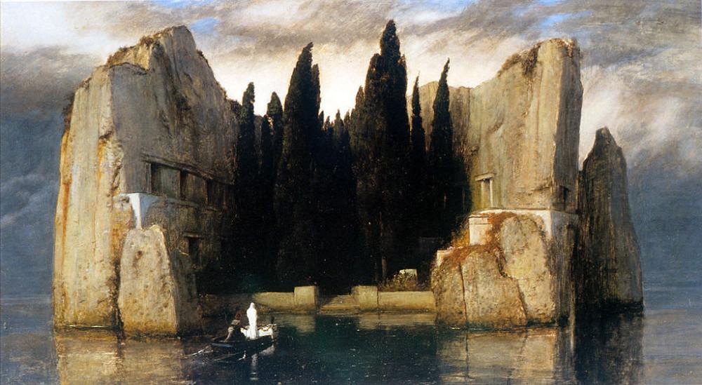 «Остров мёртвых» ( нем. Die Toteninsel ), 1880, Художественный музей, Базель