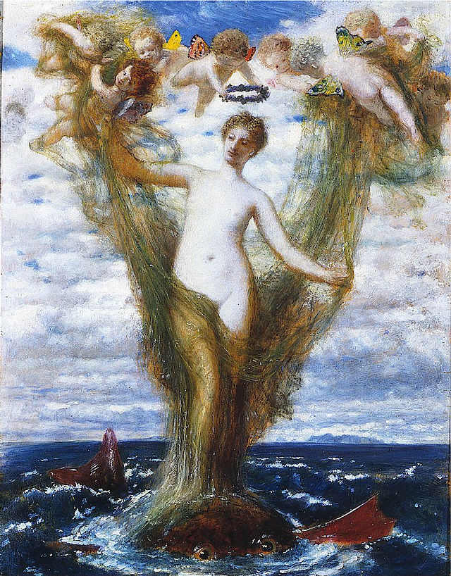 Arnold Böcklin - Венера Анадиомена / Venus Anadyomene - Saint Louis Art Museum