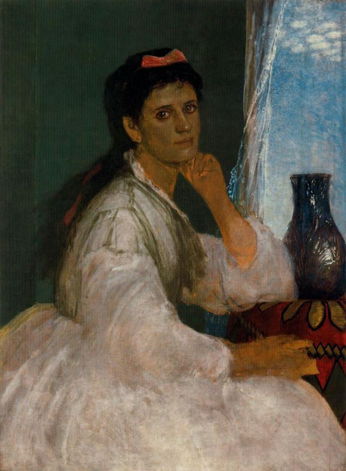 Portrait of Clara Böcklin - Arnold Böcklin