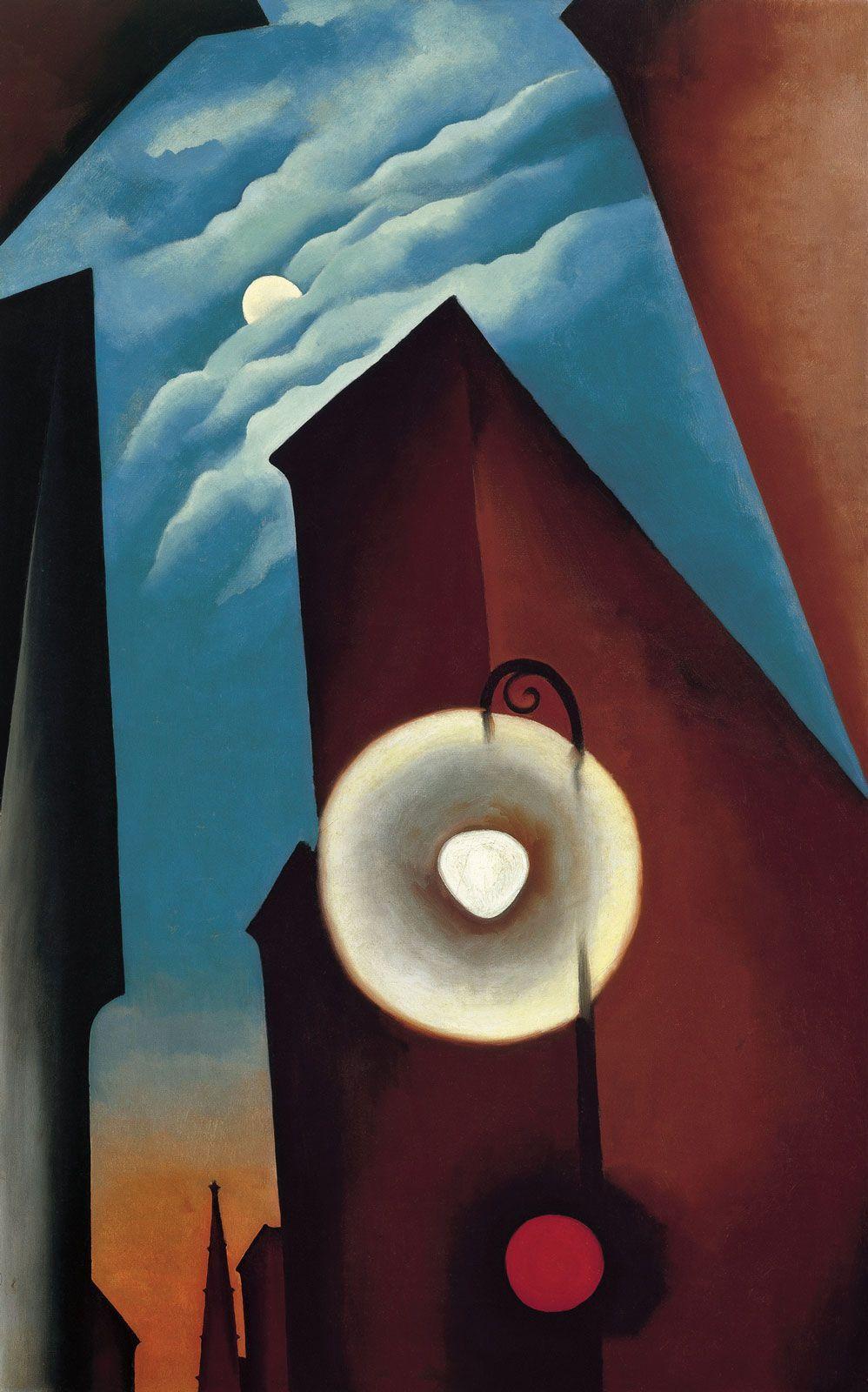 Джорджия О'Кифф. «Нью-йоркская улица с луной». 1925. Фото- Carmen Thyssen-Bornemisza Collection.jpg