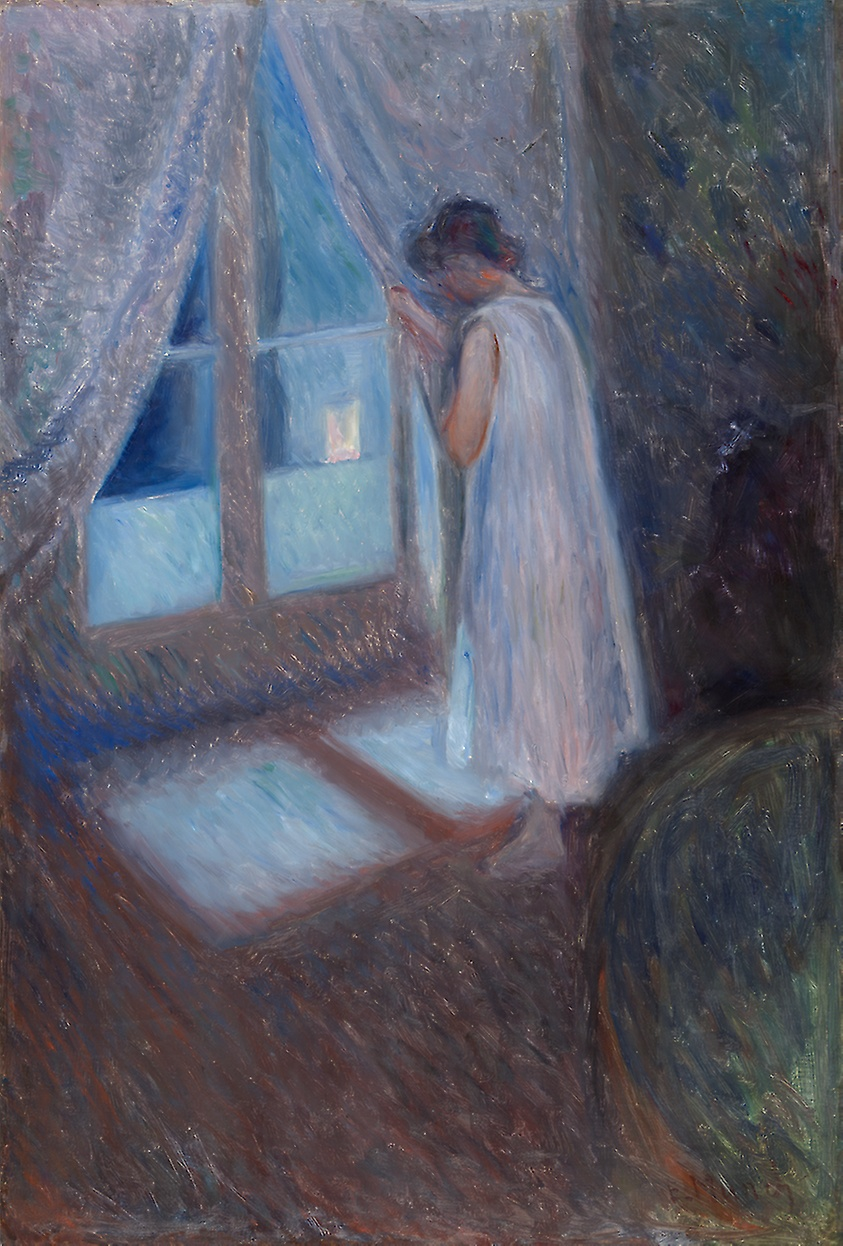 Edvard Munch (Norwegian, 1863-1944) - The Girl by the Window. 1893 /  Art Institute of Chicago