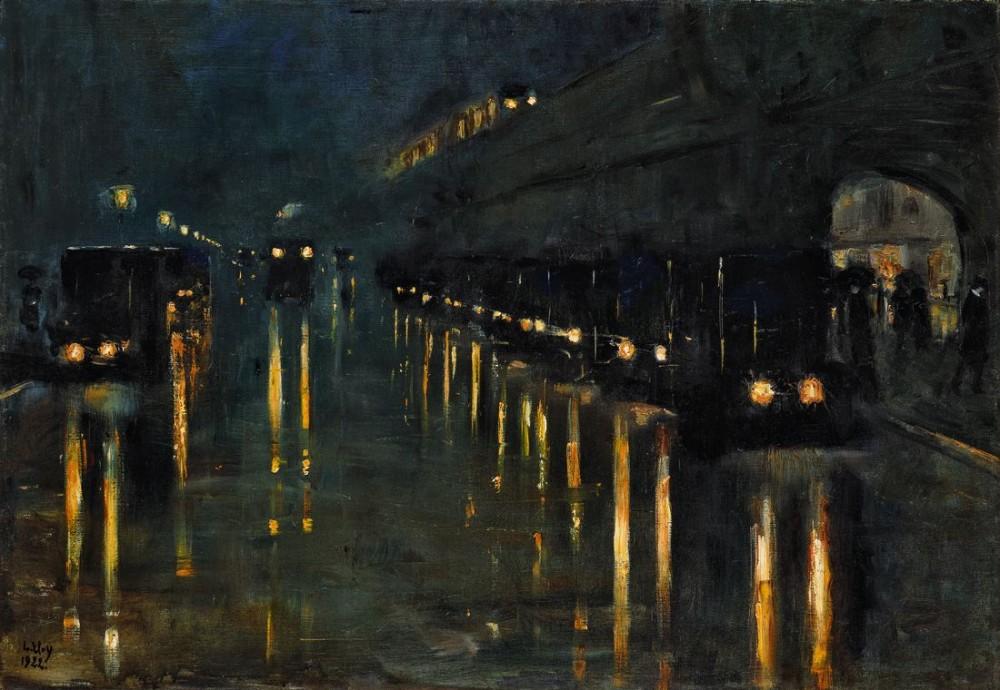 Hochbahnhof Bülowstraße bei Nacht