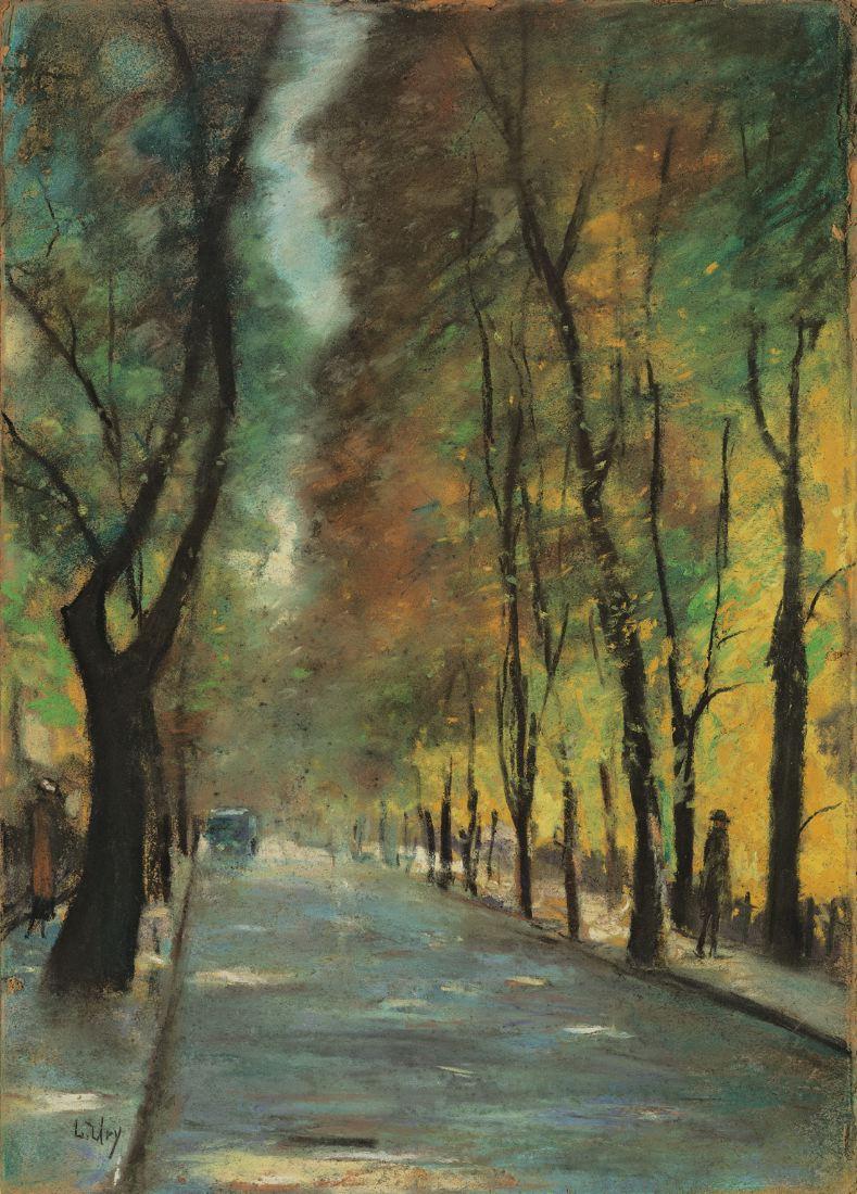 Herbstliche Straße im Tiergarte