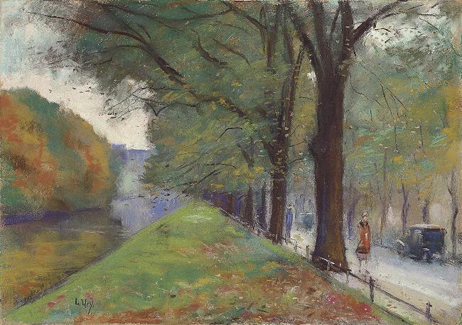 Lesser Ury Am Landwehrkanal im Herbst