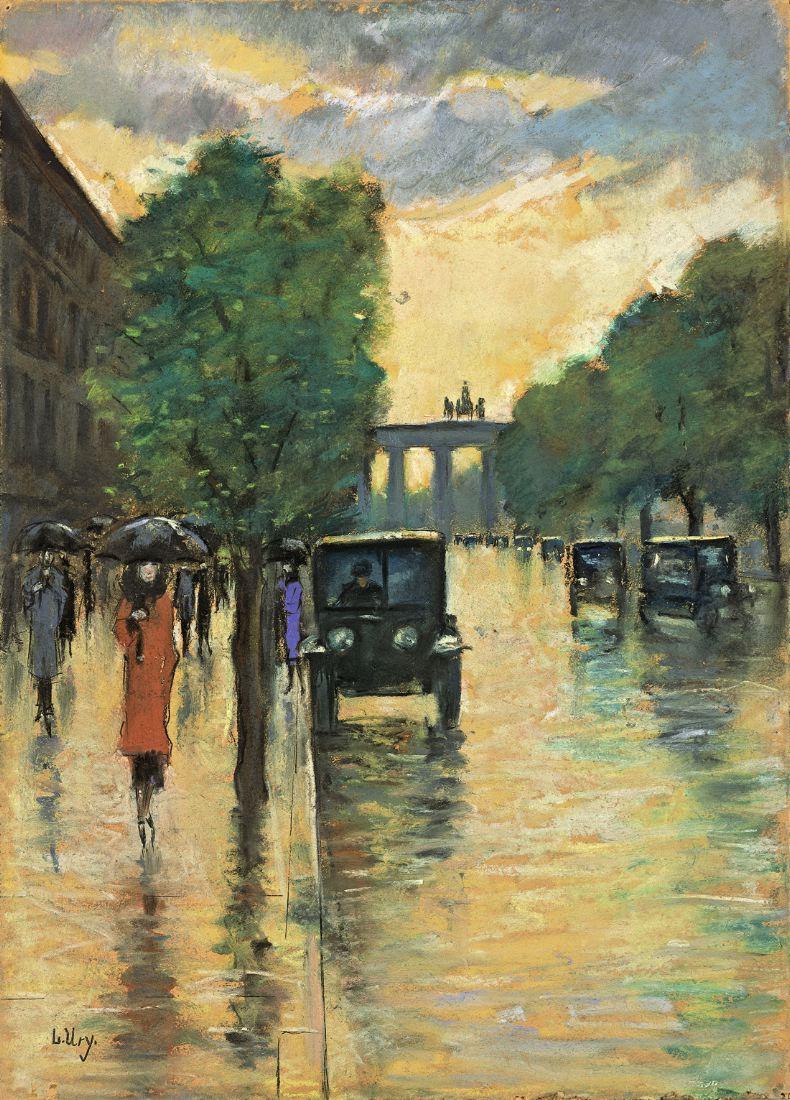 Unter den Linden mit Blick auf das Brandenburger Tor, 1920-s