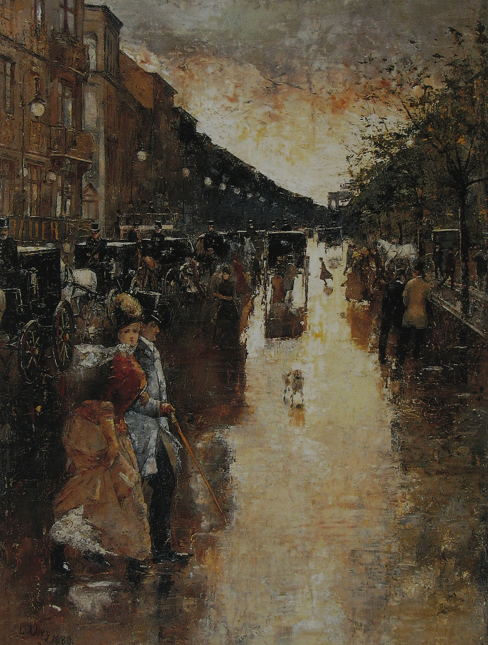 Unter den Linden nach dem Regen