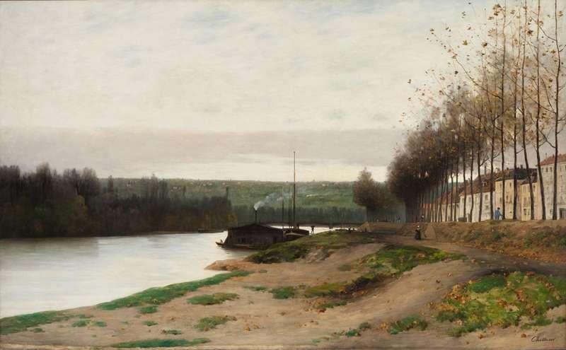 Antonín Chittussi - The Seine near Puteaux.  Národní galerie v Praze