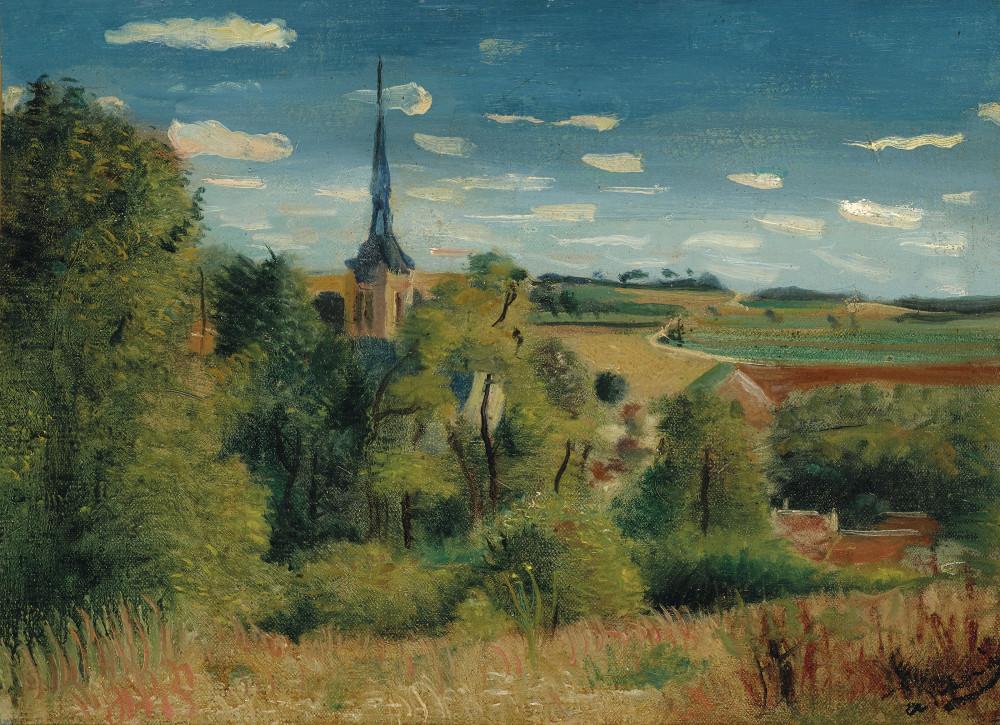 André Derain (1880-1954) — Vue de Donnemarie-en-Montois