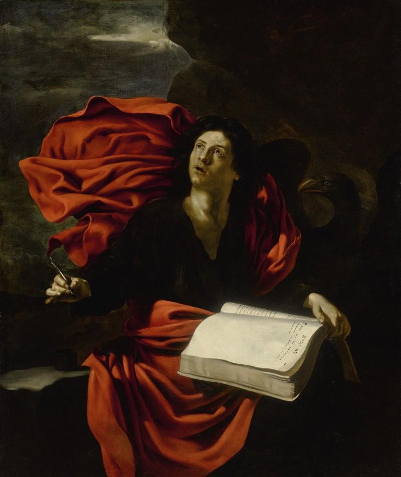 NICOLAS RÉGNIER (Maubeuge, Flanders circa 1590 - 1667 Venice) - SAINT JOHN THE EVANGELIST ON PATMOS