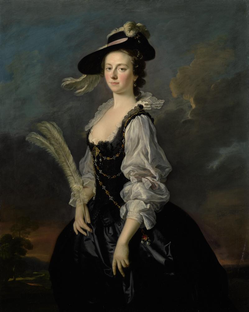 ALLAN RAMSAY (Edinburgh 1713 - 1784 - Dover) -  PORTRAIT OF JANE HALE, MRS. MADAN, THREE QUARTER LENGTH