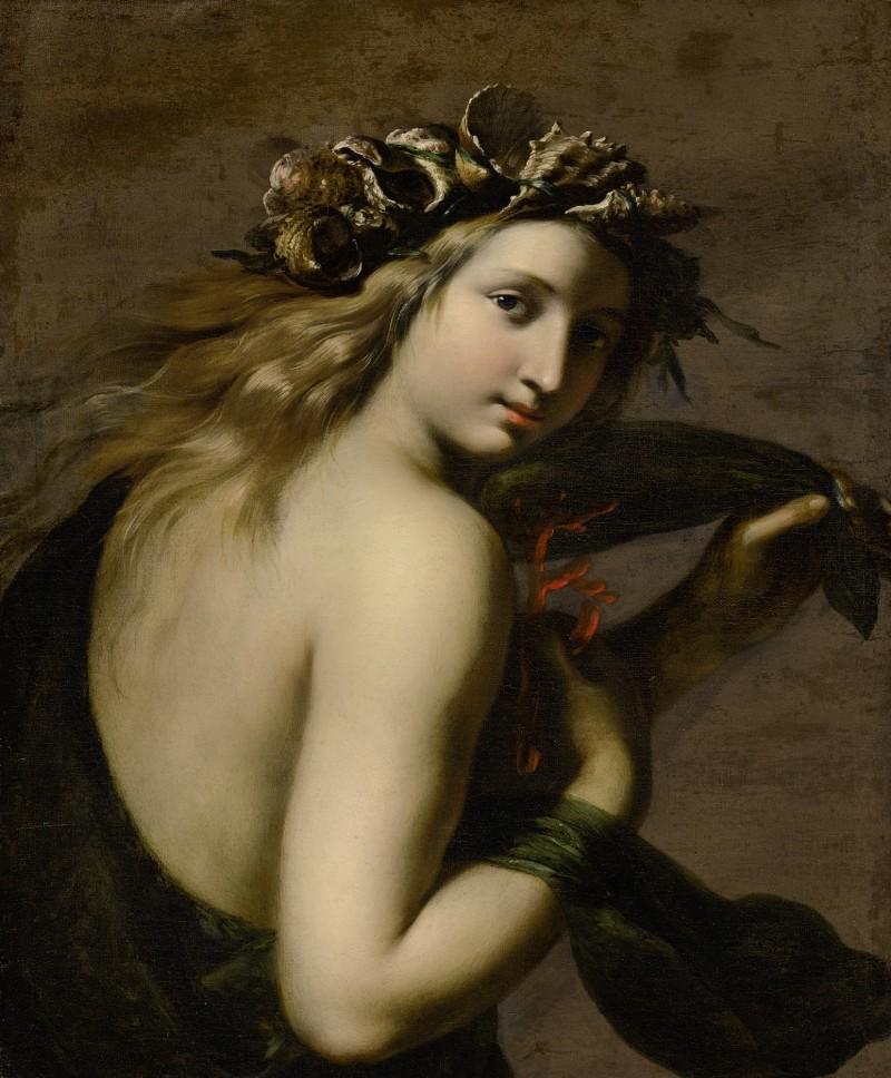 GINEVRA CANTOFOLI (Bologna 1608-1672) - A SEA-NYMPH, PROBABLY GALATEA