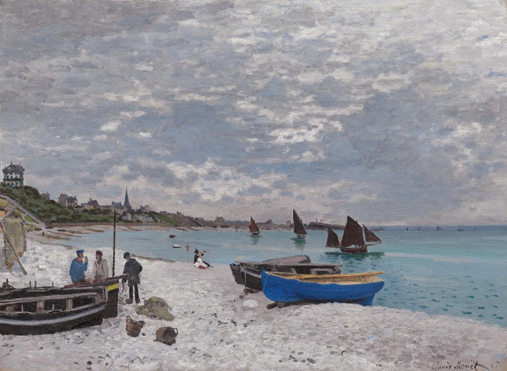 The Beach at Sainte-Adresse, 1867  - Claude Monet