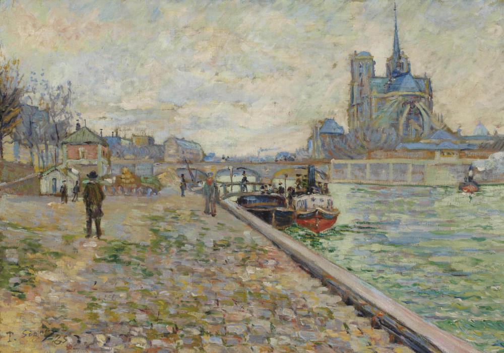 Paul Signac (1863-1935) - Quai de la Tournelle