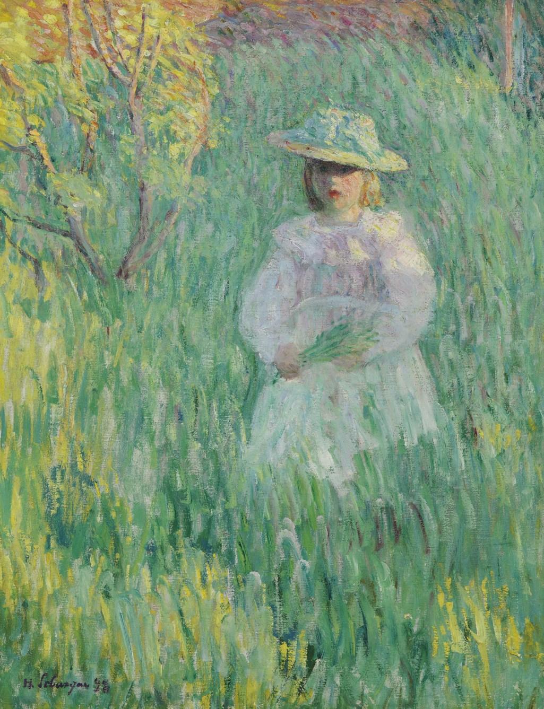 Henri Lebasque (1865-1937) - Petite fille dans une prairie