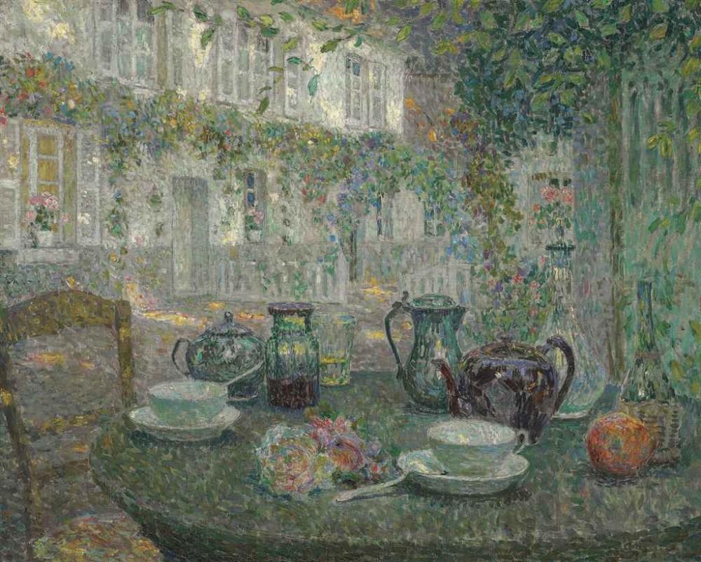 Henri Le Sidaner (1862-1939) La table de pierre
