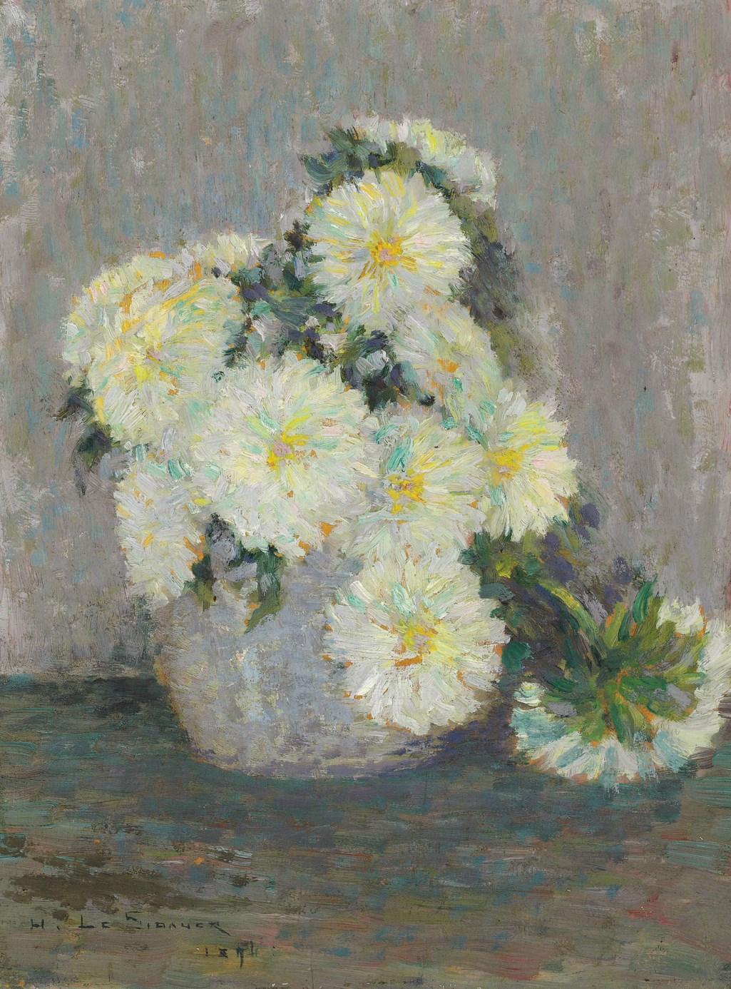 Henri Le Sidaner (1862-1939) Vase de fleurs