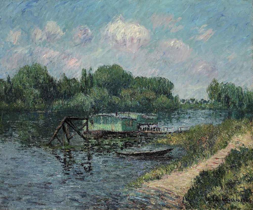 Gustave Loiseau (1865-1935) Lavoir sur la Seine à Herblay