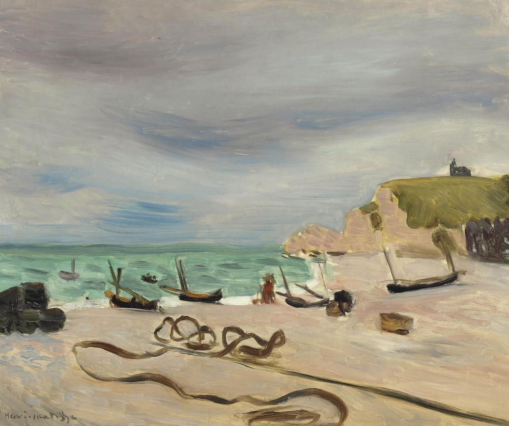 Henri Matisse (1869-1954) Cordages sur la plage d'Etretat.