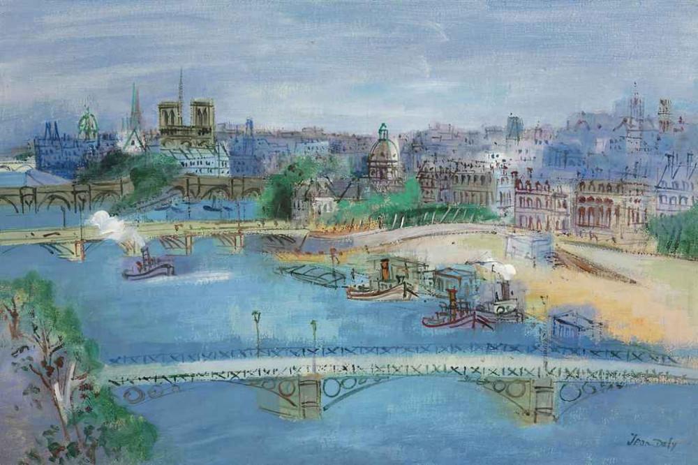 Jean Dufy (1888-1964) La Seine au pont du carrousel