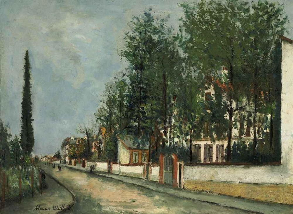 Maurice Utrillo (1883-1955) Rue Deaubonne a Sannois