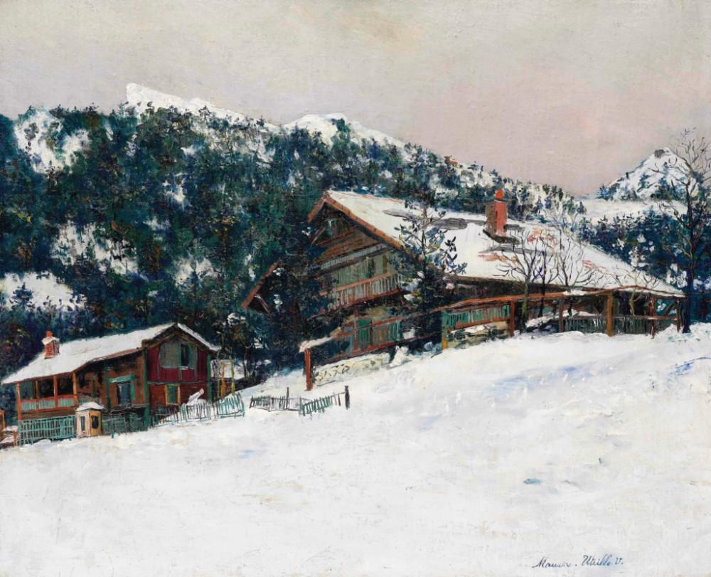 Maurice Utrillo (1883-1955) Paysage de neige en Suisse
