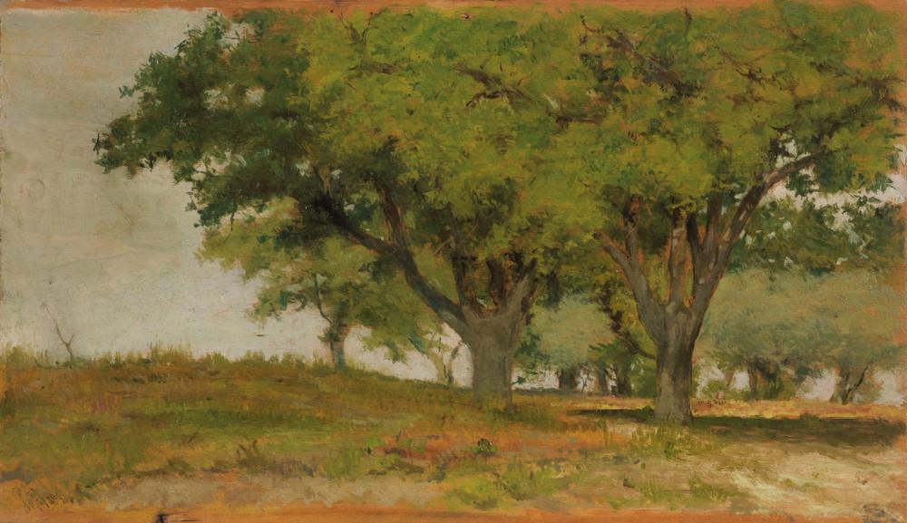 Giovanni Fattori - Querceto (1894) (Casa d'aste Farsettiarte)