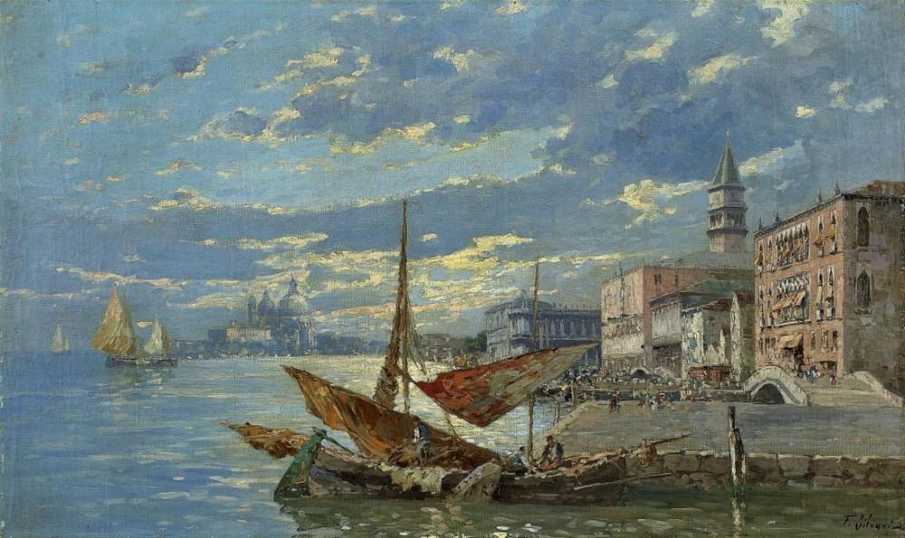 Ferdinando Silvani, THE MOLO DANIELI ON THE RIVA DEGLI SCHIAVONI ( Lempertz)
