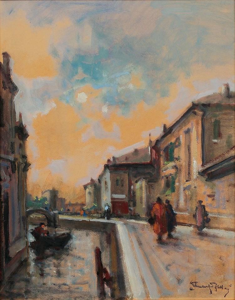 Venanzio Zolla (Colchester 1880 - Torino 1961) Venezia Pastello (Aste Bolaffi)