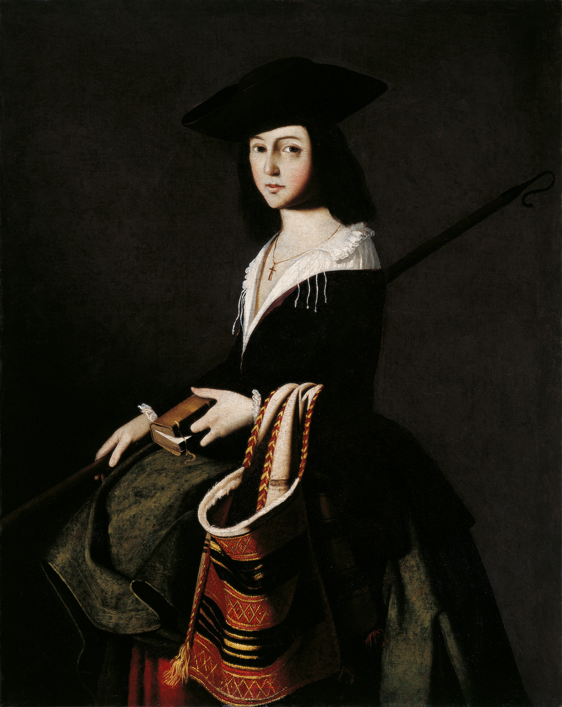 Francisco de Zurbarán - Santa Marina (Saint Marina) c. 1640-1650. Oil on canvas 111 x 88 cm (Colección Carmen Thyssen-Bornemisza)