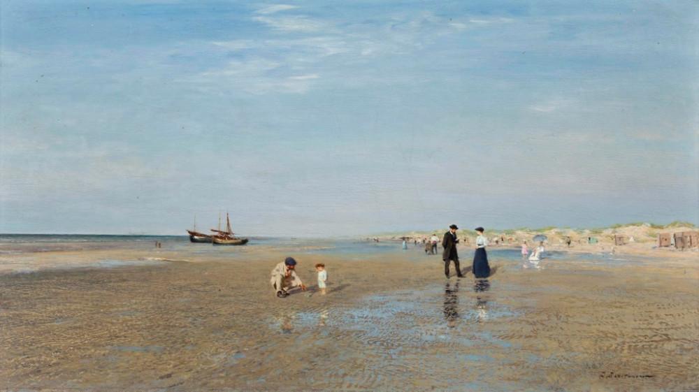 Иван Похитонов (1850-1923) - На пляже /  Ivan Pokhitonov (1850-1923)  Sur la plage