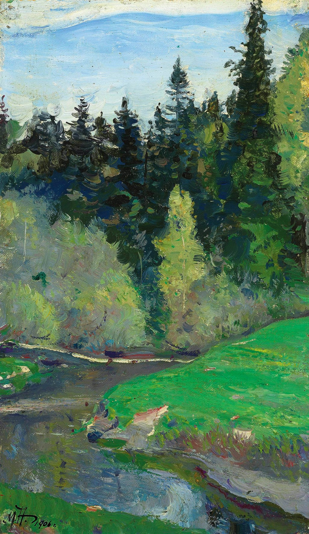 Mikhail Nesterov (1862-1942) Abramtsevo, the River Vori / Михаил Нестеров (1862-1942) Абрамцево, река Воря